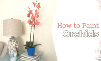 Painted Orchids - ArtzyFartzyCreations.com